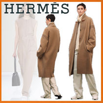HERMES 18-19AW Manteau finition maille カシミアコート