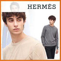 HERMES 18-19AW Pull col rond Diagonales Emmelees トップス