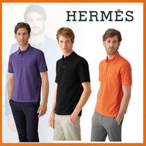 HERMES 18-19AW Polo boutonne broderie H メンズポロシャツ
