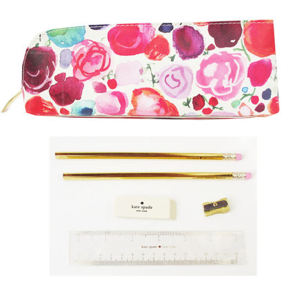 kate spade new york ペンケース 即納Kate spadeNY  FLORAL pencil case鉛筆、消しゴム、定規付