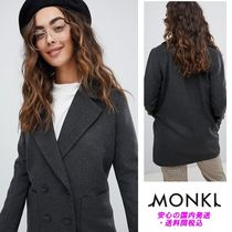 Monki Checked Double Breasted Jacket♪