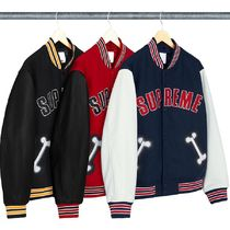 SUPREME Bone Varsity Jacket  WEEK 5 AW 18