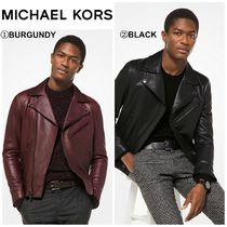 【MICHAEL KORS】☆新作☆ Grained Leather Moto Jacket