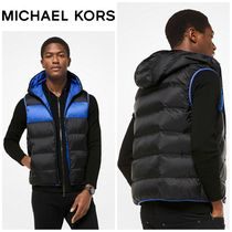 【MICHAEL KORS】☆新作☆ Color-Block Quilted-Nylon Vest