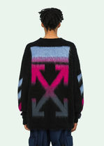 即発 OFF WHITE 18FW GRADIENT ARROW MOHAIR KNIT