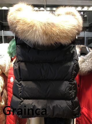 MONCLER★18/19AW新作 ファー付きジレ GALLINULE★黒・関税込み