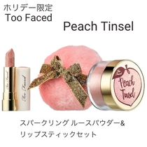 Too Faced(トゥフェイス) フェイスパウダー ホリデー限定☆Too Faced☆Peach Tinsel☆パウダー&リップセット
