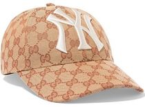 ★関税負担★GUCCI★EMBROIDERED COATED-CANVAS BASEBALL CAP