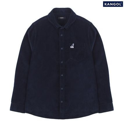 18FW新作★Kangol Club Corduroy Shirt 7027 Navy