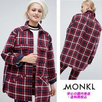 Monki Check Lightweight Jacket With Pockets♪