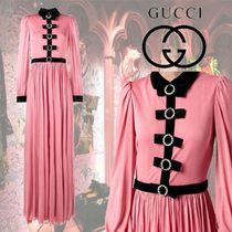 【18AW】★GUCCI★Velvet bow evening dress