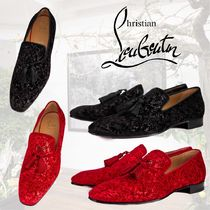 Christian Louboutin Officialito Flat ベルベット ルネサンス