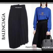 さりげなさ♪◇ロゴ Pleats Skirt◇BALENCIAGA
