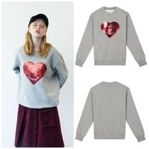 STEREOVINYLSの[FW18 Peanuts] Heart Spangle Sweatshirts