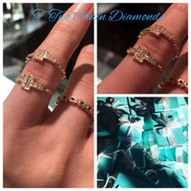 【Tiffany & Co】ダイアモンドT Two Chain Ring 18k Gold