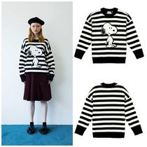 STEREOVINYLSの[FW18 Peanuts] Snoopy Stripe Pullover Knit