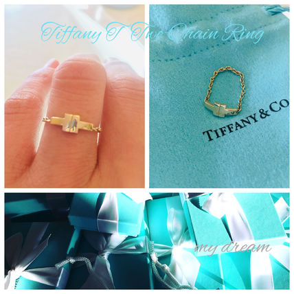 【Tiffany & Co】T Two Chain Ring 18k Gold, Rose Gold