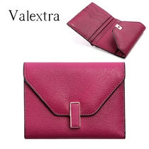 Valextra★ Isis Pebble leather 折りたたみ財布_V9E05 0280RS2