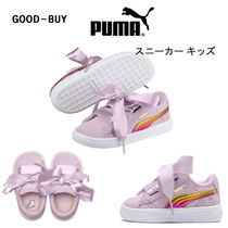 [PUMA]プーマ★MINIONS SUEDE HEART FLUFFY INF キッズ 13-16cm