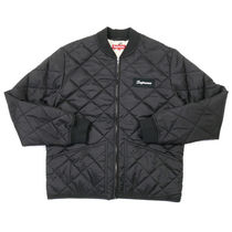 Supreme FW16 Color Blocked Quilted Jacket 黒 (ステッカー付)
