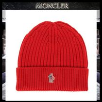 【MONCLER】18AW GRENOBLE ロゴ ウールニットビーニーRED/追跡付