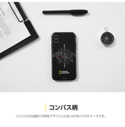 NATIONAL GEOGRAPHIC スマホケース・テックアクセサリー iPhone XS/X/XR/XS Max ケース Compass Case Double Protective(7)