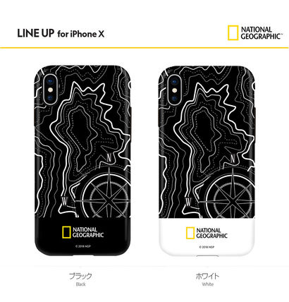 NATIONAL GEOGRAPHIC スマホケース・テックアクセサリー iPhone X ケース Topography Case Double Protective 2色(2)