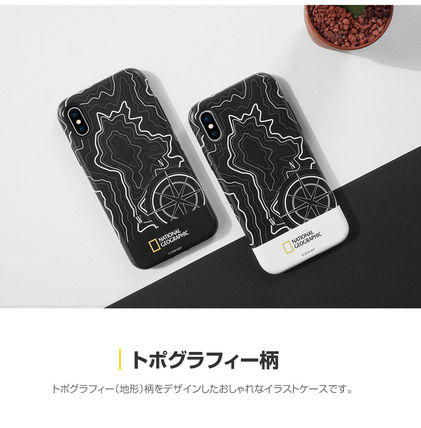 NATIONAL GEOGRAPHIC スマホケース・テックアクセサリー iPhone X ケース Topography Case Double Protective 2色(5)