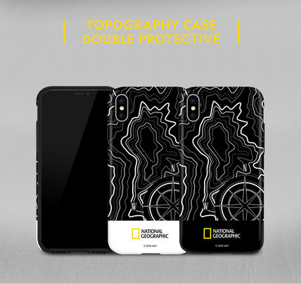 NATIONAL GEOGRAPHIC スマホケース・テックアクセサリー iPhone X ケース Topography Case Double Protective 2色(7)