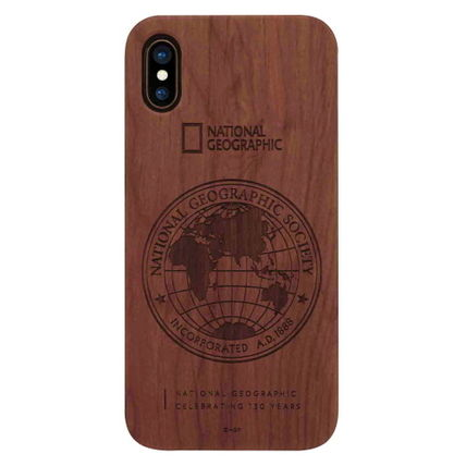 NATIONAL GEOGRAPHIC スマホケース・テックアクセサリー iPhone XS/X/XR/XS Max 130th Anniversary case Nature Wood 3色(3)