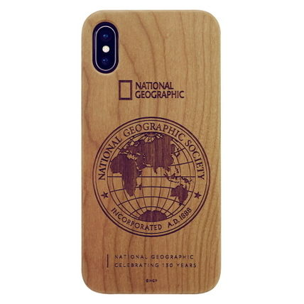 NATIONAL GEOGRAPHIC スマホケース・テックアクセサリー iPhone XS/X/XR/XS Max 130th Anniversary case Nature Wood 3色(4)