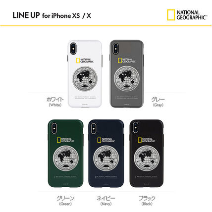 NATIONAL GEOGRAPHIC スマホケース・テックアクセサリー iPhone XS/X/XR/XS Max ケース Global Seal Metal-Deco Case 5色