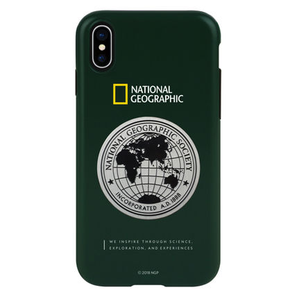 NATIONAL GEOGRAPHIC スマホケース・テックアクセサリー iPhone XS/X/XR/XS Max ケース Global Seal Metal-Deco Case 5色(4)