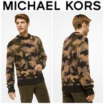 【MICHAEL KORS】☆新作☆ Camouflage Wool-Blend Pullover