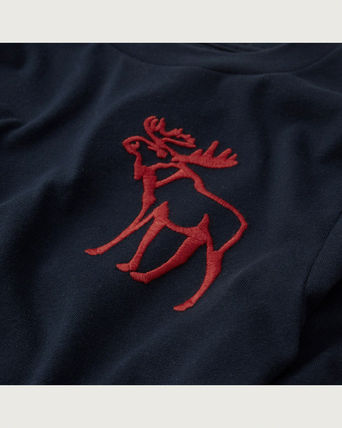 Abercrombie & Fitch キッズ用トップス 【海外買付】大人もOK!アバクロキッズ embroidered logo tee(2)
