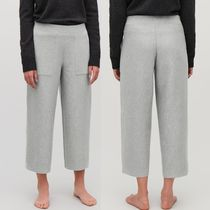 """""""COS"""" CROPPED COTTON-CASHMERE TROUSERS LIGHT GRAY"""