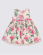 【Marks&Spencer】Baby☆Pure Cotton Floral Print Dress