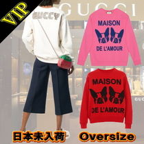 ◆◆VIP◆◆ GUCCI  Oversize sweatshirt with Bosco and Orso