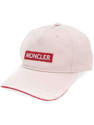 MONCLER(モンクレール)ロゴパッチキャップ ライトピンク&レッド