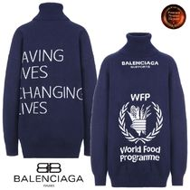 BALENCIAGA* World Food Programmeウールタートルネック 関送込