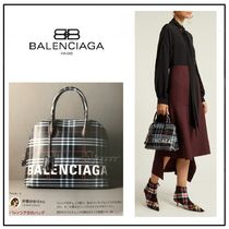 雑誌掲載★BALENCIAGA★VILLE TOP HANDLE★チェックレザーbag★S
