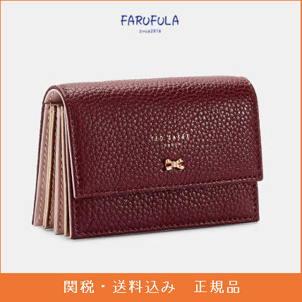 TED BAKER Eves スモール レザー パース 財布 茶色  ロゴ
