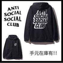 【希少】Anti Social Social Club/BlockedロゴHoodie【送関込】