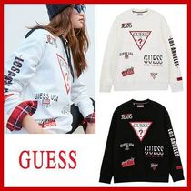 GUESS★ロゴ プリント スウェット★2色★関税込〜追跡安全発送