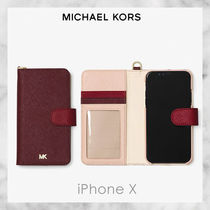 【Michael Kors】Color-Block Saffiano Leather iPhone X