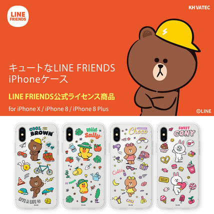 LINE FRIENDS スマホケース・テックアクセサリー iPhone X クリアケース LINE FRIENDS MY FAVORITE THINGS
