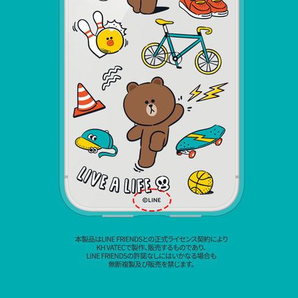 LINE FRIENDS スマホケース・テックアクセサリー iPhone X クリアケース LINE FRIENDS MY FAVORITE THINGS(2)