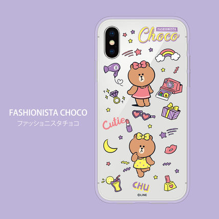 LINE FRIENDS スマホケース・テックアクセサリー iPhone X クリアケース LINE FRIENDS MY FAVORITE THINGS(3)
