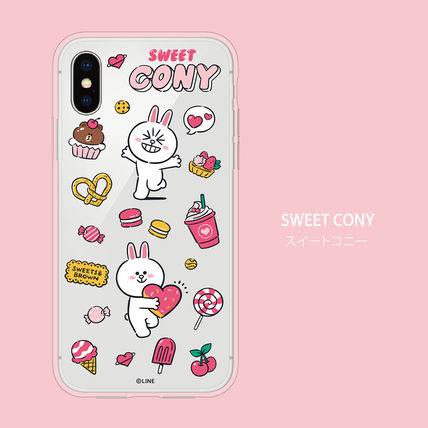 LINE FRIENDS スマホケース・テックアクセサリー iPhone X クリアケース LINE FRIENDS MY FAVORITE THINGS(4)