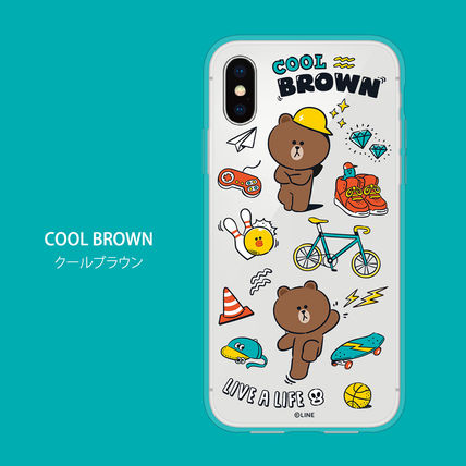 LINE FRIENDS スマホケース・テックアクセサリー iPhone X クリアケース LINE FRIENDS MY FAVORITE THINGS(6)